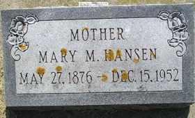 HANSEN, MARY M - Sanborn County, South Dakota | MARY M HANSEN - South Dakota Gravestone Photos
