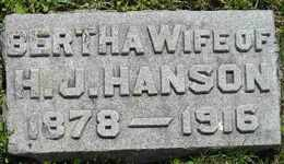 HANSON, BERTHA - Sanborn County, South Dakota | BERTHA HANSON - South Dakota Gravestone Photos