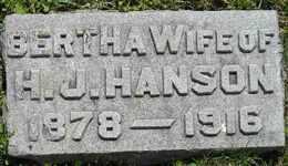 HANSON, BERTHA - Sanborn County, South Dakota | BERTHA HANSON - South Dakota Gravestone Photos