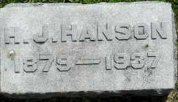 HANSON, H J - Sanborn County, South Dakota | H J HANSON - South Dakota Gravestone Photos