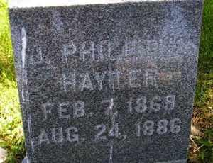 HAYTER, J PHILETUS - Sanborn County, South Dakota | J PHILETUS HAYTER - South Dakota Gravestone Photos