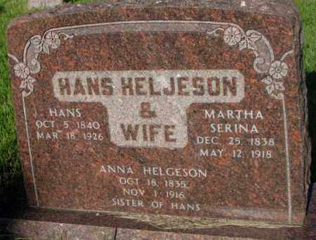 HELJESON, ANNA - Sanborn County, South Dakota | ANNA HELJESON - South Dakota Gravestone Photos