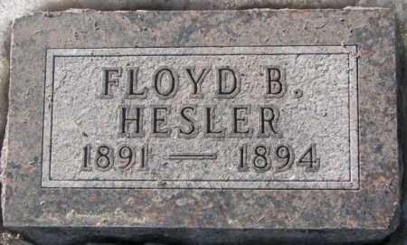 HESLER, FLOYD B. - Sanborn County, South Dakota | FLOYD B. HESLER - South Dakota Gravestone Photos
