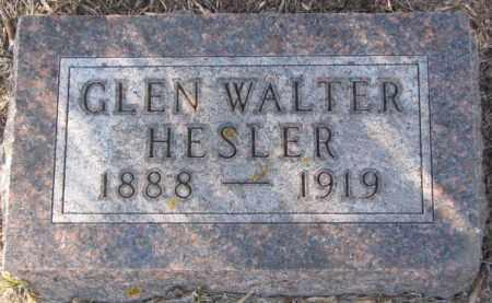 HESLER, GLEN WALTER - Sanborn County, South Dakota | GLEN WALTER HESLER - South Dakota Gravestone Photos