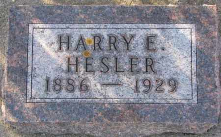 HESLER, HARRY E. - Sanborn County, South Dakota | HARRY E. HESLER - South Dakota Gravestone Photos