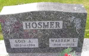HOSMER, WARREN L - Sanborn County, South Dakota   WARREN L HOSMER - South Dakota Gravestone Photos