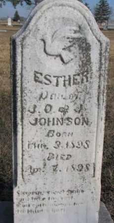 JOHNSON, ESTHER - Sanborn County, South Dakota | ESTHER JOHNSON - South Dakota Gravestone Photos