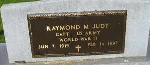JUDY, RAYMOND M - Sanborn County, South Dakota | RAYMOND M JUDY - South Dakota Gravestone Photos