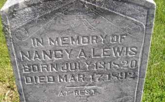 LEWIS, NANCY A - Sanborn County, South Dakota | NANCY A LEWIS - South Dakota Gravestone Photos