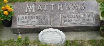 MATTHEWS, MARGARET W - Sanborn County, South Dakota | MARGARET W MATTHEWS - South Dakota Gravestone Photos