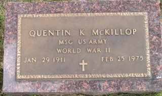 MCKILLOP, QUENTIN K - Sanborn County, South Dakota | QUENTIN K MCKILLOP - South Dakota Gravestone Photos