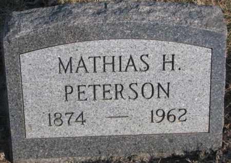 PETERSON, MATHIAS H. - Sanborn County, South Dakota | MATHIAS H. PETERSON - South Dakota Gravestone Photos