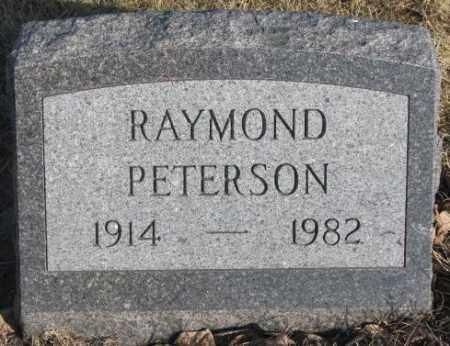 PETERSON, RAYMOND - Sanborn County, South Dakota   RAYMOND PETERSON - South Dakota Gravestone Photos