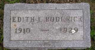 RODERICK, EDITH L - Sanborn County, South Dakota   EDITH L RODERICK - South Dakota Gravestone Photos