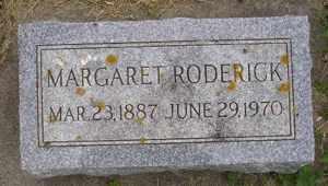 RODERICK, MARGARET - Sanborn County, South Dakota | MARGARET RODERICK - South Dakota Gravestone Photos
