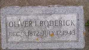 RODERICK, OLIVER I - Sanborn County, South Dakota | OLIVER I RODERICK - South Dakota Gravestone Photos