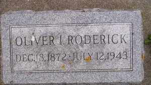 RODERICK, OLIVER I - Sanborn County, South Dakota   OLIVER I RODERICK - South Dakota Gravestone Photos