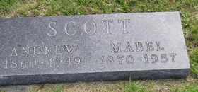 SCOTT, MABEL - Sanborn County, South Dakota   MABEL SCOTT - South Dakota Gravestone Photos