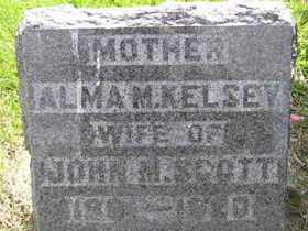KELSEY SCOTT, ALMA M - Sanborn County, South Dakota | ALMA M KELSEY SCOTT - South Dakota Gravestone Photos
