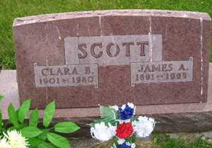SCOTT, CLARA B - Sanborn County, South Dakota | CLARA B SCOTT - South Dakota Gravestone Photos