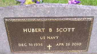 SCOTT, HUBERT   NAVY - Sanborn County, South Dakota   HUBERT   NAVY SCOTT - South Dakota Gravestone Photos