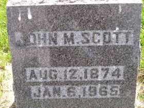 SCOTT, JOHN M - Sanborn County, South Dakota | JOHN M SCOTT - South Dakota Gravestone Photos