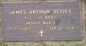 SCOTT, JAMES ARTHUR - Sanborn County, South Dakota | JAMES ARTHUR SCOTT - South Dakota Gravestone Photos