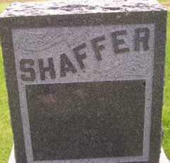 SHAFFER, HEADSTONE - Sanborn County, South Dakota | HEADSTONE SHAFFER - South Dakota Gravestone Photos