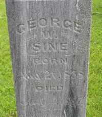 SINE, GEORGE W - Sanborn County, South Dakota | GEORGE W SINE - South Dakota Gravestone Photos