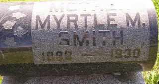 SMITH, MYRTLE M - Sanborn County, South Dakota   MYRTLE M SMITH - South Dakota Gravestone Photos