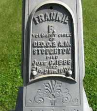 STOUGHTON, FRANKIE F - Sanborn County, South Dakota   FRANKIE F STOUGHTON - South Dakota Gravestone Photos