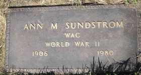 SUNDSTROM, ANN M - Sanborn County, South Dakota   ANN M SUNDSTROM - South Dakota Gravestone Photos