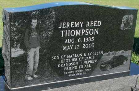 THOMPSON, JEREMY REED - Sanborn County, South Dakota | JEREMY REED THOMPSON - South Dakota Gravestone Photos