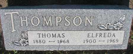 THOMPSON, ELFREDA - Sanborn County, South Dakota | ELFREDA THOMPSON - South Dakota Gravestone Photos