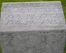 TORSEY, J MERRILL - Sanborn County, South Dakota   J MERRILL TORSEY - South Dakota Gravestone Photos