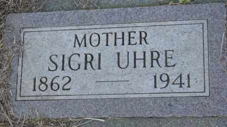 UHRE, SIGRI - Sanborn County, South Dakota | SIGRI UHRE - South Dakota Gravestone Photos