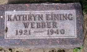 WEBBER, KATHRYN - Sanborn County, South Dakota | KATHRYN WEBBER - South Dakota Gravestone Photos