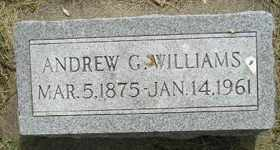 WILLIAMS, ANDREW G - Sanborn County, South Dakota   ANDREW G WILLIAMS - South Dakota Gravestone Photos