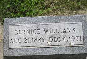 WILLIAMS, BERNICE - Sanborn County, South Dakota | BERNICE WILLIAMS - South Dakota Gravestone Photos