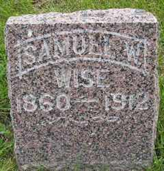 WISE, SAMUEL W - Sanborn County, South Dakota   SAMUEL W WISE - South Dakota Gravestone Photos