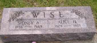 WISE, ALICE H - Sanborn County, South Dakota   ALICE H WISE - South Dakota Gravestone Photos