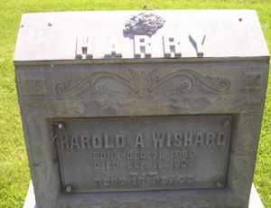 WISHARD, HAROLD A - Sanborn County, South Dakota | HAROLD A WISHARD - South Dakota Gravestone Photos
