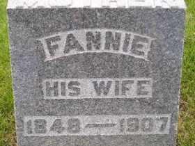 WITZEL, FANNIE - Sanborn County, South Dakota   FANNIE WITZEL - South Dakota Gravestone Photos