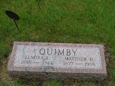 QUIMBY, ELNORA - Sully County, South Dakota | ELNORA QUIMBY - South Dakota Gravestone Photos