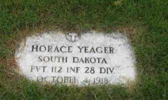 YEAGER, HORACE - Sully County, South Dakota   HORACE YEAGER - South Dakota Gravestone Photos