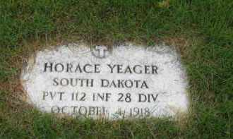 YEAGER, HORACE - Sully County, South Dakota | HORACE YEAGER - South Dakota Gravestone Photos