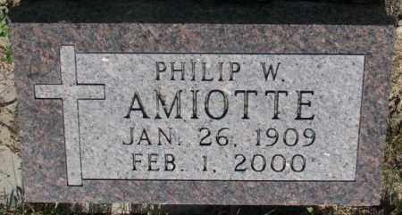 AMIOTTE, PHILIP W. - Todd County, South Dakota | PHILIP W. AMIOTTE - South Dakota Gravestone Photos
