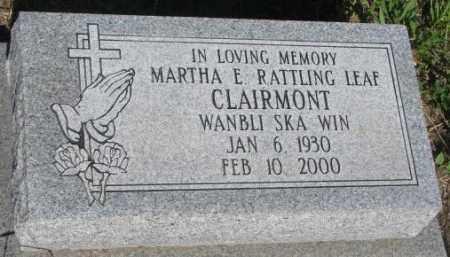 CLAIRMONT, MARTHA E. - Todd County, South Dakota | MARTHA E. CLAIRMONT - South Dakota Gravestone Photos