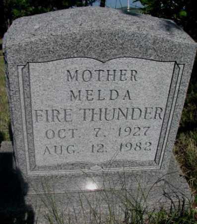 FIRE THUNDER, MELDA - Todd County, South Dakota   MELDA FIRE THUNDER - South Dakota Gravestone Photos