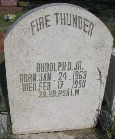 FIRE THUNDER, RUDOLPH D. JR. - Todd County, South Dakota | RUDOLPH D. JR. FIRE THUNDER - South Dakota Gravestone Photos